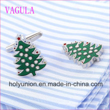 VAGULA Quality Hot Selling Christmas Tree Gemelos Cuff Links   (320)