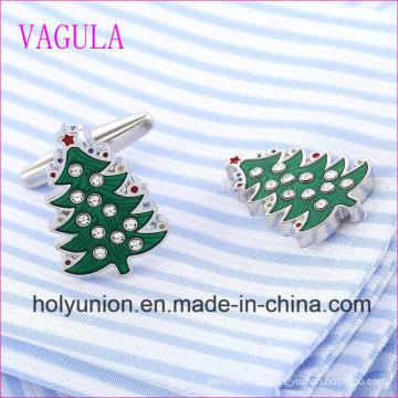 VAGULA Qualidade Venda Quente De Árvore De Natal Gemelos Cuff Links (320)
