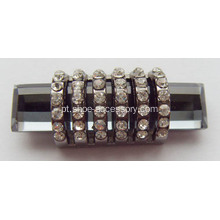Unique Alloy Shoe Buckles com Crystal Rhinestone para Lady's Top-toe bombas