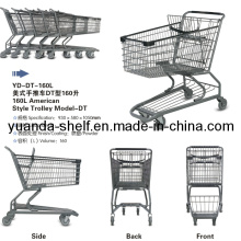 American Style Folding Metal Shopping Basket Trolley