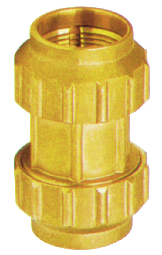 brass straight coupler fitting