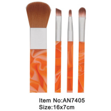 4pcs plastic handle travel makeup brush kit