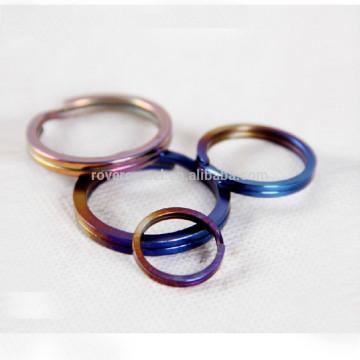 3pcs chaveiro pessoal acessório chave anéis de titânio