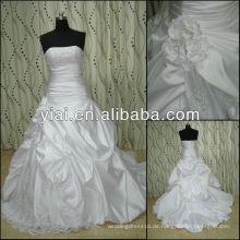 JJ2825 Perlen neues trägerloses Satin-Hochzeitskleid 2013