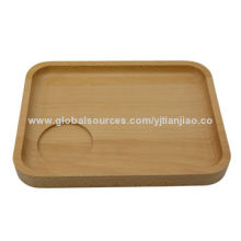 New wooden food serving platter made by beech wood