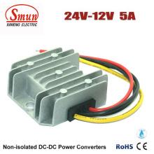 Ip68 Водонепроницаемый 24В до 12В 5А 60W преобразователь постоянного тока