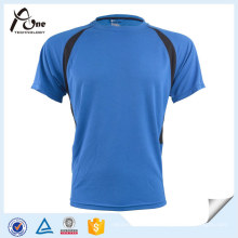 Mens Short Sleeve Running Wear T-shirt seco fresco do esporte