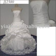 2011 diseño encantador vestido de boda nupcial barato del estilo del vestido de bola del amor de la alta calidad libre del envío 2011 JJ2380