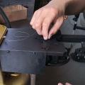 Máquina de coser invisible de sellado de juguetes de piel