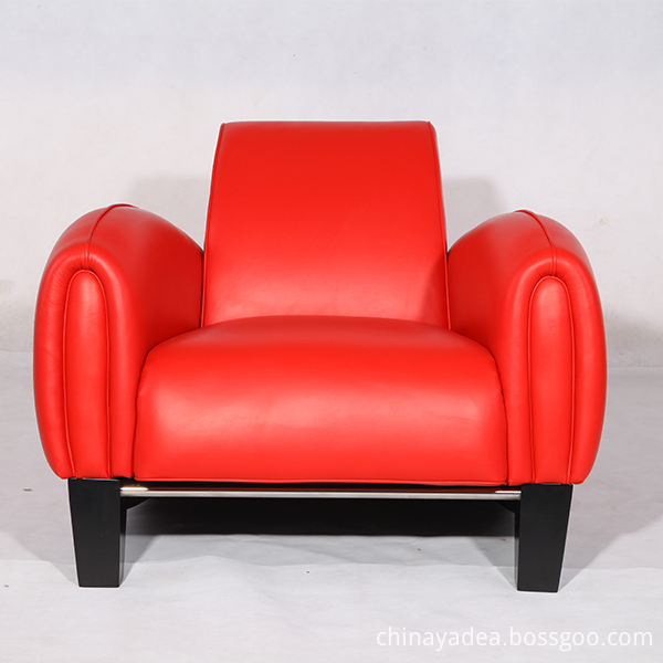 Bugatti Chairs In Aniline Red Leather