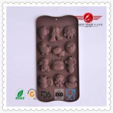 Molde divertido de la torta de chocolate del silicón de la forma animal