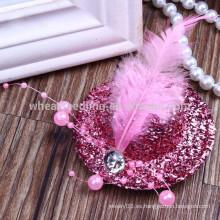 Los nuevos sombreros del diseño de la manera formaron las pinzas de pelo lindas coloridas del bebé, hairclips