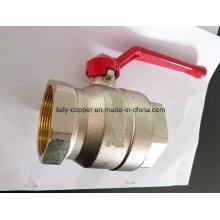 Válvula de esfera de latão forjada com níquel forjado em rosca NPT