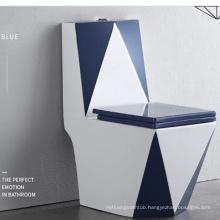 diamond shape nice design color one piece toilet