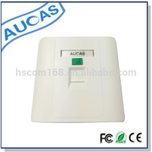 Placa de rosto modular jack de Aucas, faceplate rj45 keystone jack