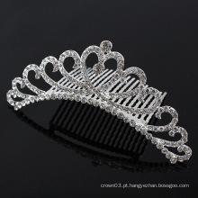 Senhoras Rhinestone Pele Cristal Bridal Hair Combs