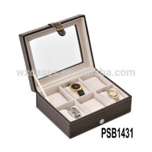 caja de reloj de cuero para 6 relojes de alta calidad de China fabricante