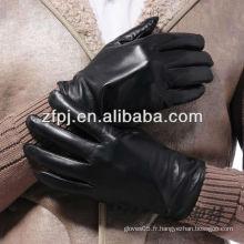 2014 hommes professionnel de sexe réel des gants en cuir mince