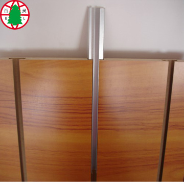 High Glossy Melamine Slotted MDF with Aluminium