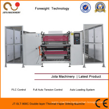 Double Layer POS Paper Slitter Rewinder Thermal Jumbo Roll Slitter