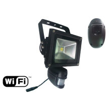 security floodlight with wireless wifi hidden camera built in pir motion sensor