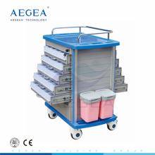 Zentralisierte Sperre AG-MT011A1 Hauptstadt Krankenhaus Krankenschwester verwendet doppelseitigen Tablett medizinische Wagen zu verkaufen