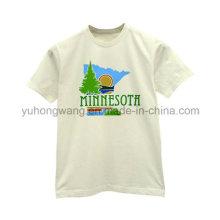 T-shirt de algodão barato homens impressos