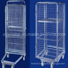 Nestable Folding Four Sided Security Roll Cage
