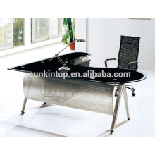 L cadre de verre en forme de bureau pour bureau utilisé