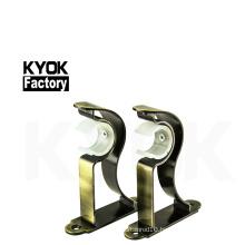 KYOK windows accessories curtain pipe bracket double ,28*19mm double curtain bracket set