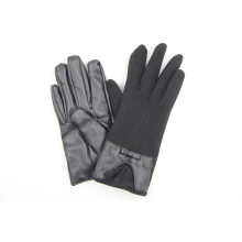 Trendy Lady Fashion Leder Bogenknoten Lace Handschuhe