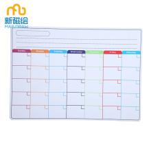Calendrier hebdomadaire mensuel de réfrigérateur magnétique