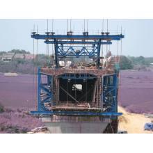 Retrusive Cantilever-Schalungssystem für Stahlträger