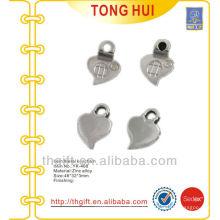 Métal en blanc Pendentif en forme de coeur mignon Porte-clés
