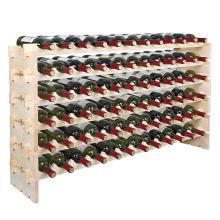 84 bottles pine wood wine cellar racks wine bottle free standing holder rack