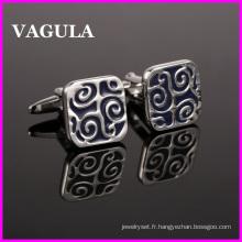 VAGULA qualité émail concepteur boutons de manchettes (HL10130)