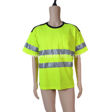 Knit Fluorescent Yellow T-shirt