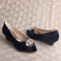 Wedopus Navy Heel Shoes Court Ukuran 6