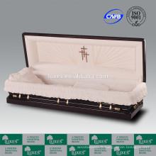 LUXES Superior sénateur plein divan cercueil bois chinois cercueils