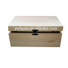 Caja de empaquetado de madera hecha a mano cuboide de alta calidad