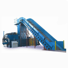 High bale density Horizontal hydraulic HDPE bottles baling machine