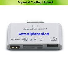 Kit de conexión HDMI y cámara 5 en 1 para iPad iPhone iPod Series