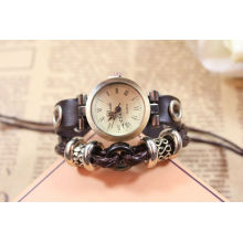 Genuine leather quartz watch