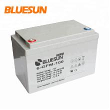 Bateria profunda 12v do gel do armazenamento de energia solar da eficiência elevada da longa vida de Bluesun 100Ah 150Ah 200Ah