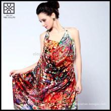 100% Silk цифровая печатная пляжная обложка Up Scarf