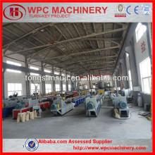 WPC decking, WPC flooring fazendo linha de produção / WPC linha de produção