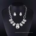 Big imitação de cristal colar de jóias com diamantes