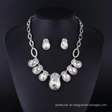 Big Nachahmung Kristall Diamant Schmuck Halskette