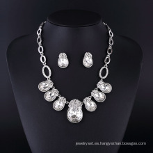 2015 Grace Style Crystal Rhinestone Jewellry Necklace Set para Mujeres