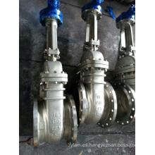 API 6D Válvula de compuerta con brida, acero inoxidable